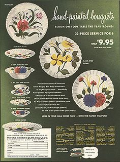 Pottery &China: Color Ads  Illustrations