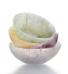 Bowls made of Semi-Precious Gemstones.