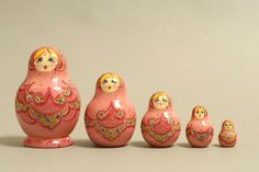 "5 Piece ""Vyatskaya Matryoshka"" number 10536 - 644"