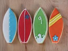surfboard cookies... I need to make these for Christian