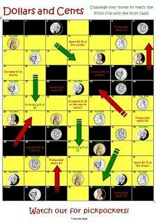 Down Under Teacher: Freebies Currency boardgame