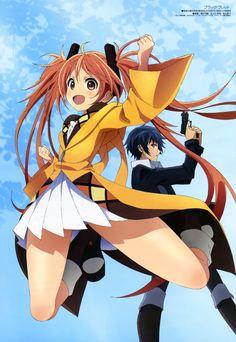 Enju and Satomi Science Fiction, 2014 Anime, Manga Anime, Anime Art, Black Bullet, Textiles, Yandere, Home Textile, Fan Art