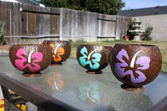 $20 Each. Coconut Candle Holders.