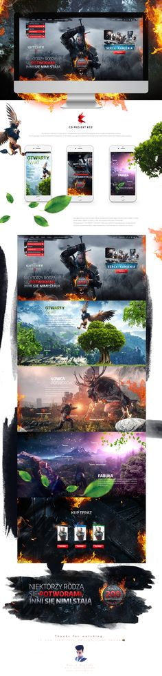 The Witcher 3: Wild Hunt Website Redesign Concept on Behance