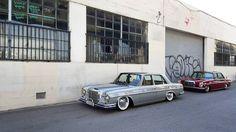 """Old school Mercedes Benz cruisers #slammed #joyofmachine   Photo by @larry_chen_foto"""