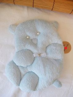 soft baby pillow bear  baby shower gift  by MadeByMiculinko, $28.00