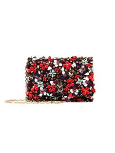 Embroidered Satin-Twill DeDe Bag - Handbags - Shoes & Accessories