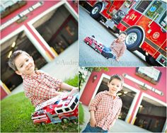 If we ever take pictures at the station, need to remember to bring the kids toy trucks