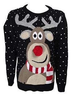 The Home of Fashion Mens Black Rudolph the Red Nose Reindeer Pom Pom Christmas Knitted Jumper (M) The Home of Fashion http://www.amazon.co.uk/dp/B00OORVKAO/ref=cm_sw_r_pi_dp_O1osub1SZ98ZK