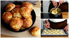 Gougères: How to make CLASSIC, airy French cheese puffs? Comida Diy, Bread Recipes, Cooking Recipes, French Cheese, Cheese Puffs, Cooking Bread, Pan Bread, Snacks Für Party, Antipasto