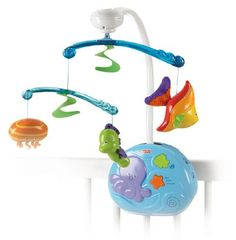 Fisher-Price Ocean Wonders Gentle Waves Musical Mobile - http://www.discoverbaby.com/fisher-price/fisher-price-ocean-wonders-gentle-waves-musical-mobile/