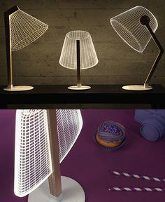 Acrylic glass lamps, by Studio Cheha, Israel