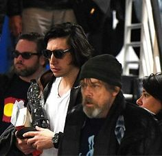Adam Driver and Mark Hamill spotted in Ireland