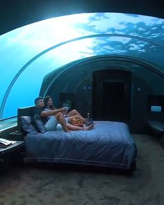 This Maldives underwater hotel will leave you speechless. Here's an inside look at what it's like to spend your vacation at this luxurious resort. destinations bucket lists the maldives Maldives Underwater Hotel Vacation Places, Honeymoon Destinations, Holiday Destinations, Dream Vacations, Vacation Spots, Italy Vacation, Greece Destinations, Maldives Voyage, Maldives Travel