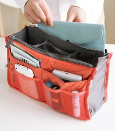 Dual Purse Organizer - just keep everything in it, and put it in the handbag for the day