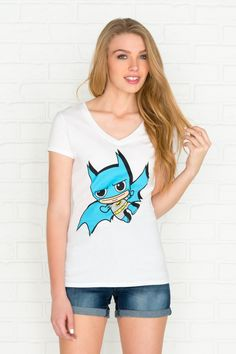 White mini Batman graphic t-shirt - PJs & Robes - Clothing | Ardene Official Online Store