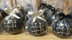 Hashtag candy apples black & gold