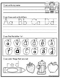 Kindergarten morning work for August!