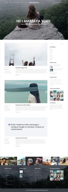 Recreator is clean and modern design responsive multipurpose WordPress #template for creative #blog and #bloggers website with 18+ niche homepage layouts to live preview & download click on Visit