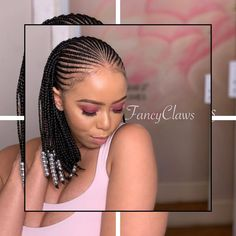 Short Box Braids Hairstyles, Braids Hairstyles Pictures, Braided Ponytail Hairstyles, African Braids Hairstyles, Girl Hairstyles, African Braids Styles, Simple Hairstyles, Medium Hairstyles, Natural Hair Braids
