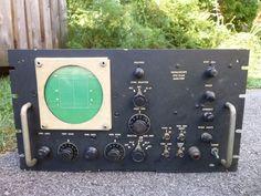Vintage Oscilloscope Spectrum Analyzer Navy Type CRV-55AGJ-1 Tubes No Cover