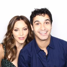 Comic-Con '15: EW's Celebrity GIF Guide, Day 1 | Katharine McPhee and Elyes Gabel, 'Scorpion' | EW.com