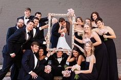 Cutest photo we've seen ツ | Black + White wedding photo idea | Photo Credit Matt Andrews Photography #AWhiteWedding