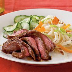 Maple and Soy-Glazed Flank Steak - mmmm