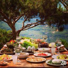 Great #Lebanese food with amazing view!  By @3dotsblog  #Lebanon #WeAreLebanon