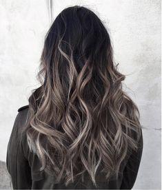 Grey ombré hair colour and highlights Long hair styles http://shedonteversleep.tumblr.com/post/157435335253/short-hair-trends-for-2017-short-hairstyles-2017