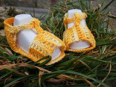 sandalias a crochet | Están tejidas a ganchillo con hilo de algodón muy suave para la ...