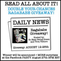 Enter to win two awesome Ragababe 2-Step all-in-two cloth diapers from Thinking About Cloth Diapers, So Easy Being Green and Viva Veltoro!  Giveaway closes August 26, 2013.