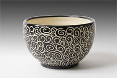 Doodle Bowl: Jennifer Falter: Ceramic Bowl - Artful Home