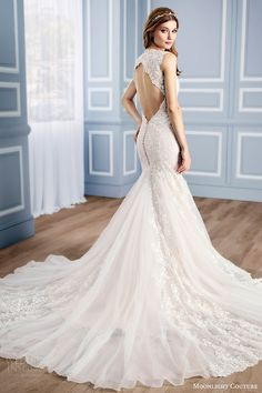 MOONLIGHT COUTURE bridal fall 2016 sleeveless vneck lace mermaid wedding dress (h1312) bv keyhole back train #bridal #wedding #weddingdress #weddinggown #bridalgown #dreamgown #dreamdress #engaged #inspiration #bridalinspiration #weddinginspiration #weddingdresses
