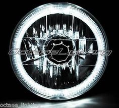 """motorcycle-parts: 7"""" Halogen Motorcycle White LED Halo Ring H4 Light Bulb Headlight For: Harley $34.95 BUY NOW ONLY #Motorcycle 7"""" Halogen Motorcycle White LED Halo Ring H4 Light Bulb Headlight For: Harley..."""