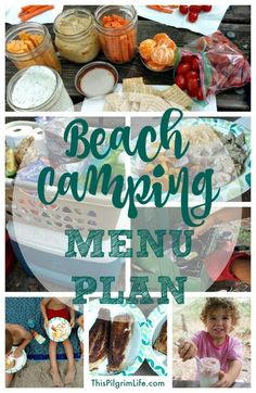 Camping with kids can be intimidating. What you will eat doesn't have to be. Check out what we prepped, packed, and ate on our weeklong camping trip at the beach.