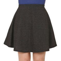 Musthave Candy Color High Waist Aline Skater Skirt S Dark Gray >>> Visit the image link more details.