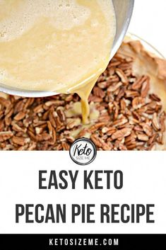 Keto Pecan Pie Recipe, Eggnog Recipe, Pie Recipes, Low Carb Recipes, Dessert Recipes, Cooking Recipes, Sweets Recipe, Pecan Recipes, Recipes Dinner