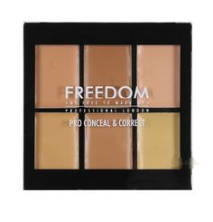 Freedom Makeup Pro Conceal and Correct Cream Palette Light-Medium.