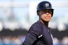 Spring Training-Minnesota Twins at New York Yankees - Mar Tampa, FL, USA; New York Yankees left fielder Giancarlo Stanton works out prior to the game at George M. Giancarlo Stanton, Usa Today Sports, Spring Training, Minnesota Twins, Baseball Players, Baby Daddy, New York Yankees, Digital Media, Mlb