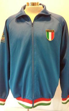 FERNET~BRANCA Italy Men's Blue Warm Up Walk Jog Jacket Size X-Large #Unbranded #BasicJacket