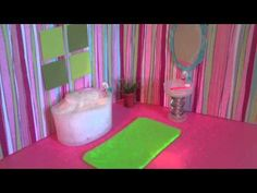 This lady shows you how to make doll furniture with stuff from around your house!! How to Make a Mini Doll Bathroom for Lalaloopsy or Littlest Pet Shop