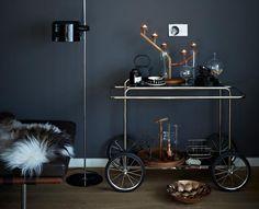 tea time mit teewagen schoner wohnen teewagen dunkles holz neue mobel