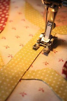 Invisible machine applique method
