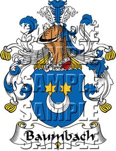 Baumbach Family Crest apparel, Baumbach Coat of Arms gifts
