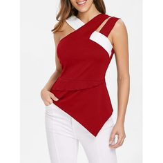 CosMera Fashion Back Zip Asymmetrical Flare Tank Top Casual Ladies Tank Top Sexy Summer Tops For Women 2018 Sweet Sleeveless Top - Melissa Simple Outfits, Casual Outfits, Sewing Blouses, Mode Outfits, Urban Fashion, Fashion Top, Fashion Site, Lolita Fashion, Fashion Fall