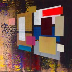 Explore new dimensions with Jim Harris. #art #contemporary #abstract #painting #paintings #artwork  #latestart #home #decor #wallart #walldecor #colour #geometric #redabstract #yellow #pink #wallart #originalart #style #inspiration #jazz