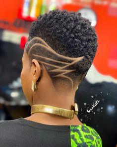 Natural Hair Short Cuts, Short Natural Haircuts, Tapered Natural Hair, Short Hair Cuts, Natural Hair Styles, Undercut Natural Hair, Short Hair Designs, Shaved Hair Designs, Chic Short Hair