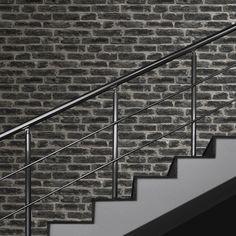 Super Fresco Easy Wallpaper   Industry Brick Noir   7668