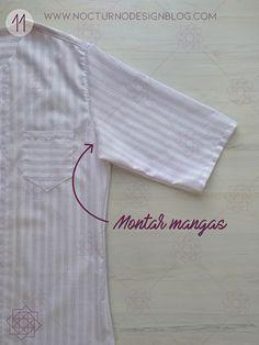 Costura fácil: Camisa a rayas + molde gratis – Nocturno Design Blog Sewing Patterns Free, Free Sewing, Sewing Tutorials, Design Blog, Crochet Gifts, Crochet Accessories, Costura Diy, Diy Clothes, Diy Tutorial
